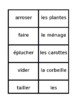 Travaux domestiques (Chores in French) Corvées Concentration games