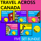 Travel Across Canada Passport Activity Five Set Bundle