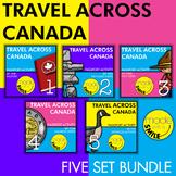 Travel Across Canada Passport Activity Five Set Bundle
