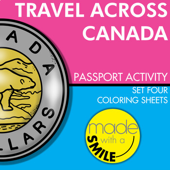 Travel Across Canada Passport Activity Set Four - Coloring Sheets