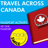 Travel Across Canada Passport Activity Set One - Passport