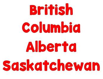 Travel Across Canada Passport Activity Set Two - File Folder Sheets