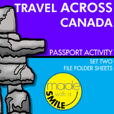 Travel Across Canada Passport Activity Set Two - File Folder Sheets