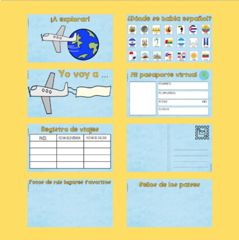 Travel Activity Set for Spanish Class