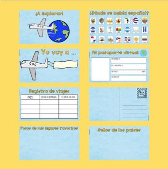 Travel Activity Set for Spanish Class