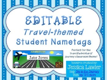 Travel / Adventure Themed Name Tags