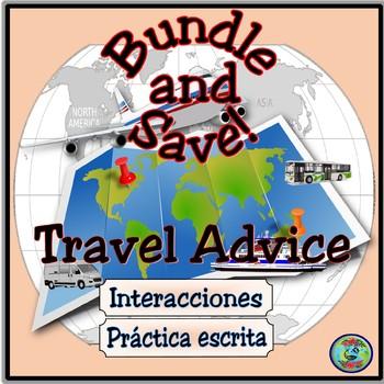 Travel Advice Activity Bundle - Consejos de viaje