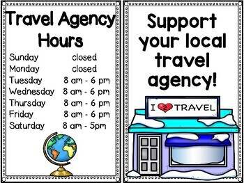 Travel Agency Dramatic Play | Transportation Dramatic Play | Community Worker