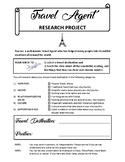 Travel Agent Research Project - Social Studies, Research S