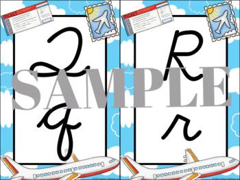 Travel Alphabet Cards (Cursive)