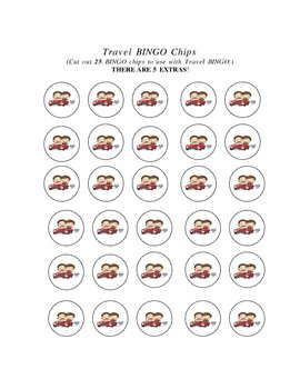 Travel BINGO and BINGO Chips