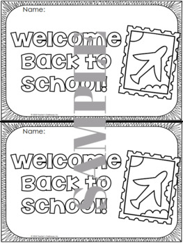 Travel Back to School Book (Primary Edition)