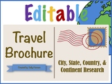 Editable City, State, Country, & Continent Travel Brochure