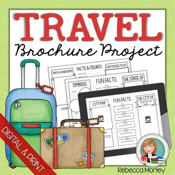graphic relating to Printable Travel Brochure named Drive Brochure Template Worksheets Education Elements TpT