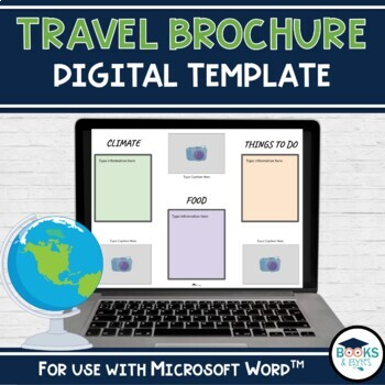 Travel Brochure Template Primary Social Studies By Books And Bytes