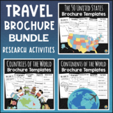 Travel Brochure Templates   Continents, Countries of the World, 50 States BUNDLE