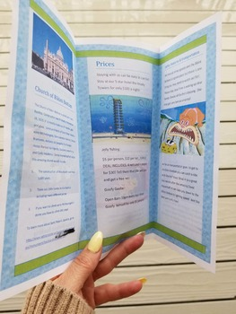 Travel Brochure - To another planet, back in time or imaginary place