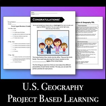 Travel Brochure - U.S. Geography & Regions PBL VA SOL UII2.b,c