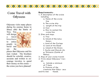travel brochure for odysseus by sweetpatootie teachers pay teachers