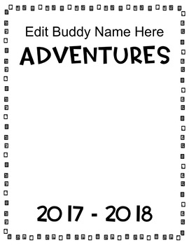 Travel Buddy Book (Editable)