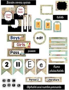 Travel Classroom Decor Bundle (Editable)