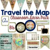 Travel Classroom Decor Bundle | EDITABLE Decor