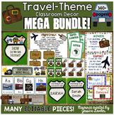Travel theme Classroom Decor MEGA Bundle