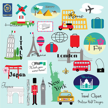 Clipart:  World Travel Clip Art