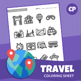Travel Coloring Sheet | Printable PDF