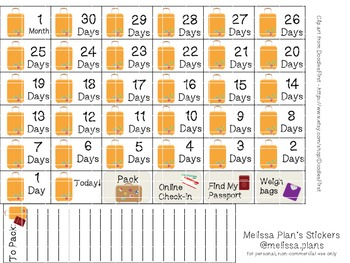 Travel Countdown