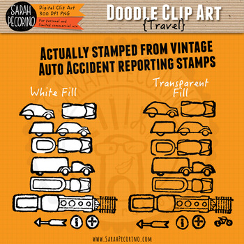 Travel Doodle Clip Art Collection