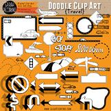 Travel Doodle Clip Art Collection