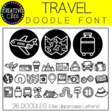 Travel Doodle FONT {Creative Clips Clipart}
