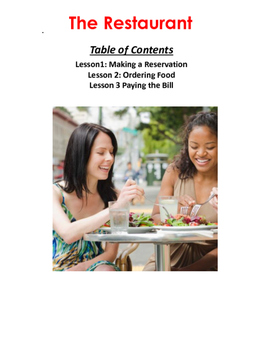 Travel English: Beginner and Intermediate: Eating at a Restaurant