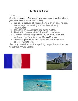 Travel - French poster task