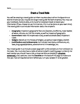 Travel Guide End of Unit Project