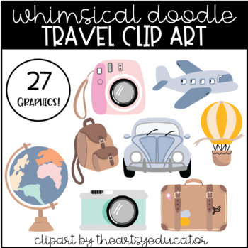 Travel Inspired Clip Art [27 Graphics!] by The Artsy ...