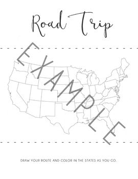 Travel Journal, Road Trip Journal, Travel Activites