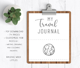 Travel Journal, Road Trip Journal, Travel Activites
