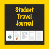 Travel Journal, Student Travel Journal, School Vacation Journal, Travel Diary