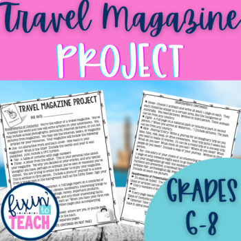 Travel Magazine {An EDITABLE Geography Project}