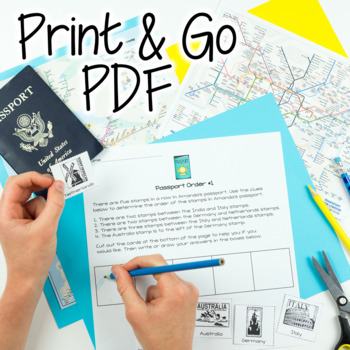 Math Worksheets | Travel Theme Math | Distance Learning Packets