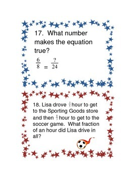 Travel Math Task Cards - 5.NF.1 - Fractions (Add and Subtract)