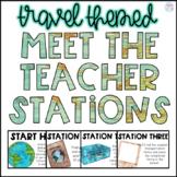 Travel Meet the Teacher Stations {Editable}