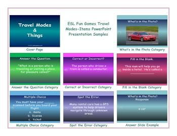 Travel Modes-Items PowerPoint Presentation