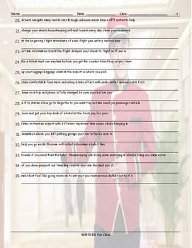 Travel Modes-Things Scrambled Sentences Worksheet