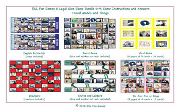 Travel Modes and Things 6 English Legal Photo Game Bundle
