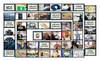 Travel Modes and Things Spanish Legal Size Photo Board Game