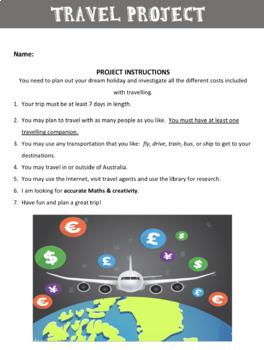 Travel Project Bundle: Teacher PowerPoint & Student Booklet