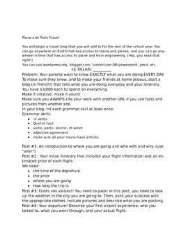 Travel Project: Start a blog! Handout